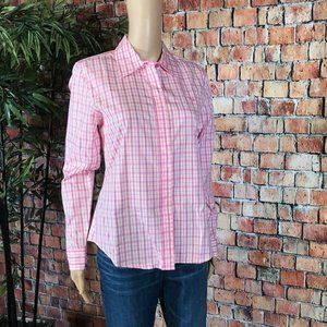 Lilly Pulitzer Pink and White plaid Button down